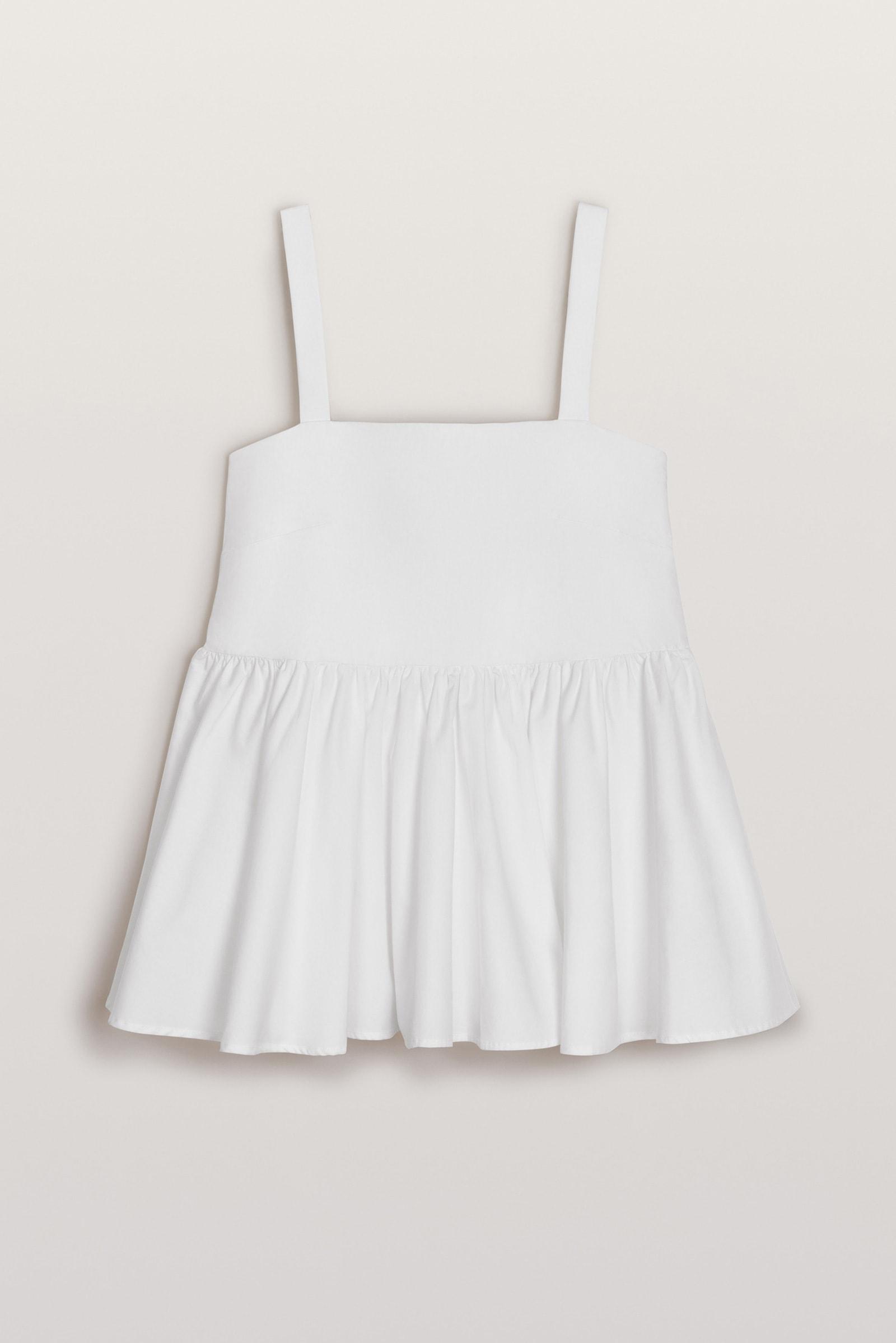 Peplum Sommer Top in Weiß